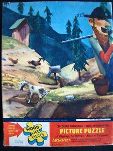Vintage Children's Giant Size Picture Puzzle Martins And Coys w/ Orig Box
