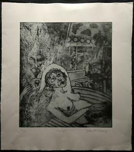 """JOHN BELLANY CBE, RA (1942-2013) SIGNED LIMITED EDITION ETCHING, NUDE """"OLYMPIA""""."""