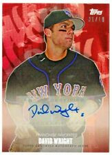 DAVID WRIGHT 2020 TOPPS X Pete Alonso Set #F3A RED PARALLEL #1/10 SSP AUTO WOW!