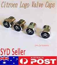 Citroen Black Logo Emblem Wheel Tyre Valve Stems  Dust Cover Screw Caps car