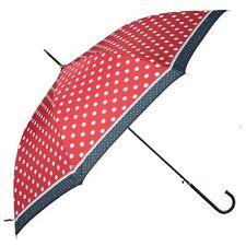 Clayre & Eef Damen Stockschirm rot große Punkte Regenschirm Schirm 52838