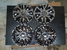"Set Of 4 2010 11 12 2013 Passat Jetta Golf 15"" Hubcaps Wheel Covers Chrome 61560"