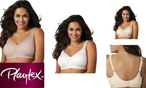 Playtex Wire Free 18hr Back Smoother Bra Sandshell P4377 Size 22DD 4 Way Support