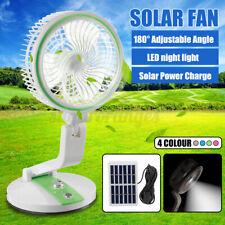 6'' Foldable Portable Mini Solar Panel Fan Cooler Night Light Desk Lamps