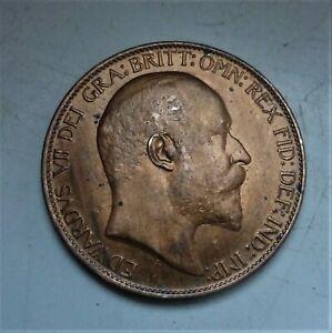 1905 EDWARD VII HALFPENNY, VERY NICE COIN