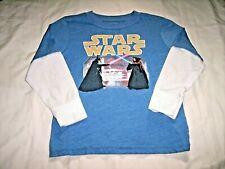 Star Wars Darth Vader vs Obi-Wan Kenobi Long Sleeve Shirt Youth Toddler Size 5T