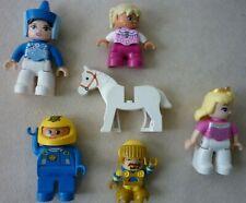 Lego Duplo Lot - 5 figures -Queen - Astronaut - more with Lego Pony