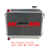 3Row 52Mm Aluminum Radiator For 1979-1983 Toyota Corolla Te71 Te72 Mt Manual