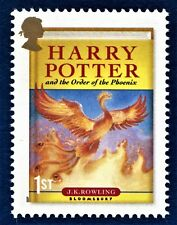 Harry Potter and the Order of the Phoenix illustrated on a Stamp Unmounted Mint
