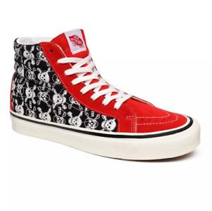 Vans SK8-Hi 38 DX Anaheim Factory Shoes Boots Men's Size 11 Skulls Bones