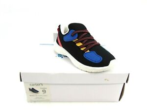 Carter's Payton Black Kids Lace Up Sneaker Running Shoes Toddler Size 9 CF20B06B