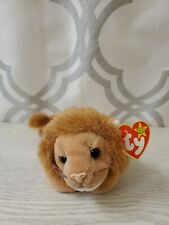 TY BEANIE BABIES ROARY THE LION Extremely Rare 4th Generation Sticker Tush Tag