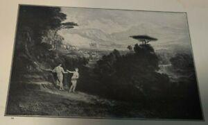 1910 THE GARDEN OF EDEN Bible Print OT Genesis John Martin Adam & Eve
