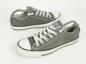 Converse All Star Gray Canvas Sneakers Shoes Men's 6.5 Women's 8.5 Low Tops