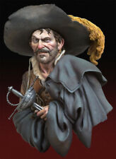 Andrea Miniatures The Looter Cavalier musketeer type 1/10th Bust Unpainted kit