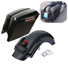 "5"" Stretched Saddlebags & CVO Rear Fender For Harley Street Road Glide 2014-2019"