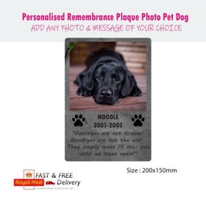 Personalised Remembrance Plaque Photo Pet Dog Cat Mum Dad Memorial Metal Sign
