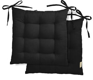 Vargottam Set of 2 Comfortable Chair Pads Seat Cushion with Full-Length-gZM