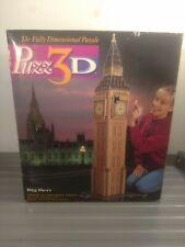 Vintage Puzz 3D Big Ben 3D Puzzle 1438pc 1994 Milton Bradley 50 Inches Tall