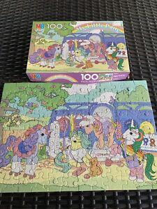 Vintage My Little Pony 100 Piece Jigsaw Puzzle 1985 Milton Bradley ~ Complete