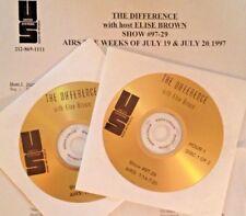 RADIO SHOW:DIFFERENCE w/ELISE BROWN 7/19/97 BOB MARLEY,JIMI HENDRIX, DAVID BOWIE