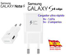 CARGADOR RED 2A ORIGINAL CARGA RAPIDA PARA SAMSUNG GALAXY NOTE 4 S6 EDGE PLUS +