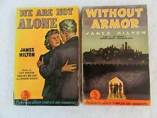 Lot of 2 JAMES HILTON We Are Not Alone & Without Armor Pocket Books 1941