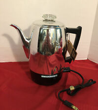 GE General Electric Automatic Percolator Coffee Maker Model CM 10 New