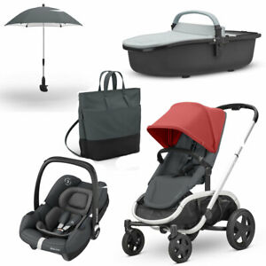 Quinny Hubb Pushchair, Hux Carrycot, Tinca Car Seat &Accessories Bundle RRP£1075