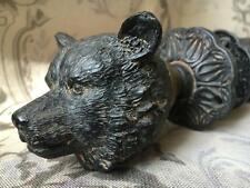 NEW Vintage Antique Cast Iron Style Ornate Bear Door Knob Handle Set Shabby Chic