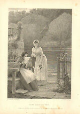 News From The War, by G.D. Leslie, Military, Vintage, 1877 Antique Art Print.