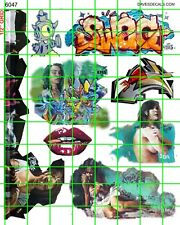 6047 DAVE'S DECALS GRAFFITI TRAIN ART TAGGING GIRLS LIPS MORE FREE SHIPPING