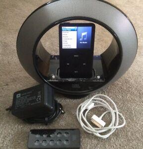 80gb iPod Classic 6th Generation & JBL Radial Micro Multimedia Docking Speaker