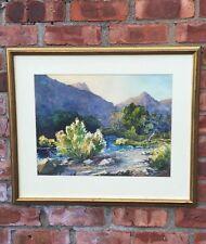 Beautiful Illinois Artist Jacob Howard Euston Watercolor. Southwest Landscape.