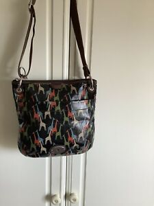 Fossil Key Per Messenger Bag Giraffe Design