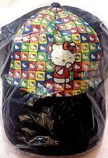Hello Kitty - Sanrio - Cappello a Visiera Nero Cotone Nero - Cartorama - Nuovo