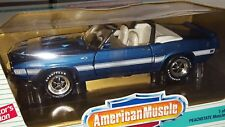 1/18 ERTL AMERICAN MUSCLE 1969 FORD SHELBY GT-500 CONVERTIBLE METALLIC BLUE od