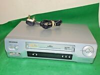 SAMSUNG SV-661B Video Cassette Recorder VHS Smart VCR Silver Slim FULLY TESTED