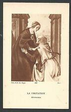 Holy card antique de la Virgin y Santa Isabel santino image pieuse estampa