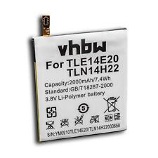 BATTERY 2000mAh for Wiko Highway Signs, Pure, TLE14E20, TLN14H22
