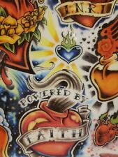 "Tattoo Flash Heart Faith potion 11"" × 8"" laminated copy tattoo ideas y4"