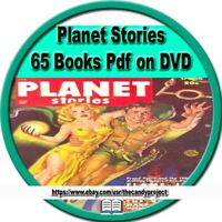 2 DVD Planet Stories Comics 65  Pdfs Books Golden Age Pulp Fiction Magazine