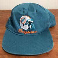 Miami Dolphins Hat Snapback Cap Blue Vintage 90s NFL Football Retro Mens USA