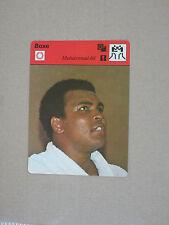 SPORTSCASTER FICHE CHAMPION BOXE BOXING MUHAMMAD ALI CASSIUS CLAY 1976 ( 2 )