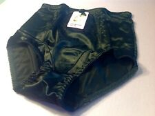 Women Panties,Briefs,Control Panties Ann Diane SZ. 2XL. Black Satin W/2 Pockets
