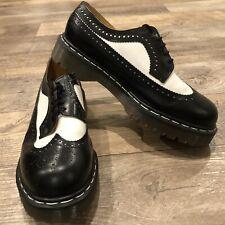 Dr. Martens Brogue 3989/34 Black Made in England Wingtip Shoes SZ 10 UK SZ 11 US