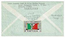 PORTUGAL MOZAMBIQUE 1963 AIR COVER VILA PERY > NJ 6.50 RATE PATRIOTIC LABEL