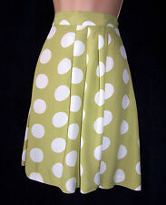 NWT Laura Ashley vintage spring '93 pale-lime/white viscose shorts culottes, 14