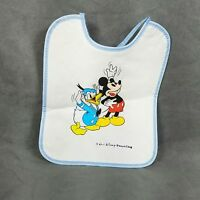 Walt Disney Productions Baby Bib Vintage Mickey Mouse Donald Duck