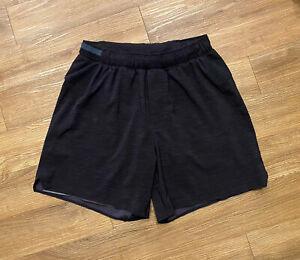 Mens LULULEMON Shorts Exercise Black Gray Size XS